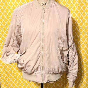H&M Blush Pink Bomber Jacket